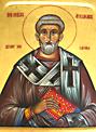 Икона православного святителя Апполинария Равеннского. Часть его святых мощей почивает в  Дюссельдорфе. Фото А. Потупина