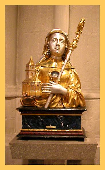 Мощевик св. Адельхайды в церкви св. ап. Петра (Кёльн). Фото: автор Алексей Потупин
